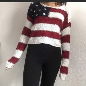 Sweaters - Knit US Flag Sweater 🇺🇸